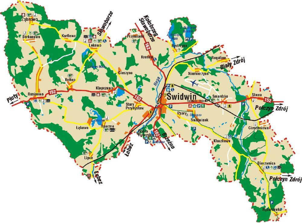 Karte Sanitz und Swidwin